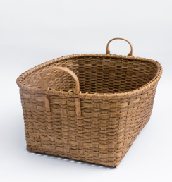 Reed-8. #843– Large utility basket with oak handles and runners